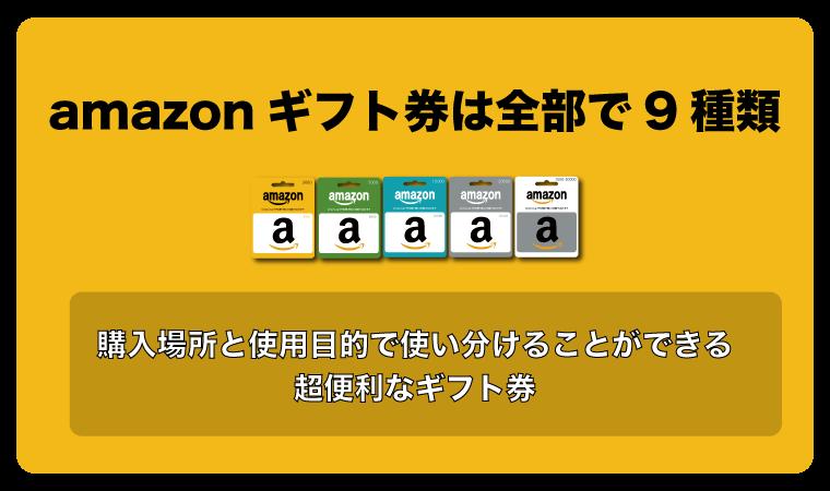 amazonギフト券 種類